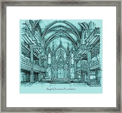 Angel Vizcaya Foundation Venue In Nyc Framed Print by Building  Art