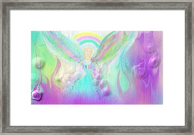 Angel Working Framed Print by Rosana Ortiz