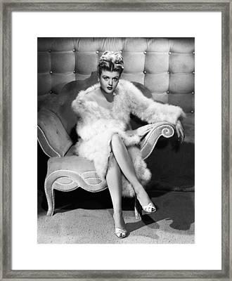 Angela Lansbury, 1946 Framed Print by Everett