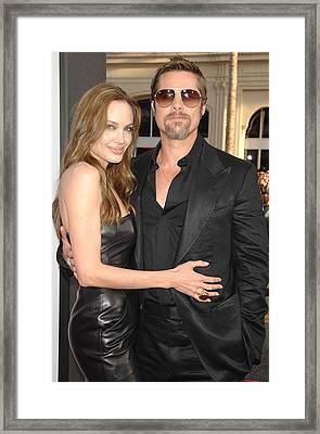 Angelina Jolie Wearing A Michael Kors Framed Print by Everett