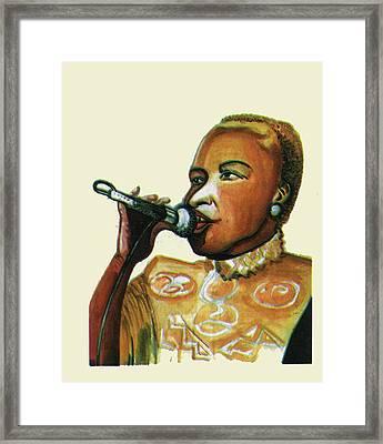 Angelique Kidjo Framed Print by Emmanuel Baliyanga