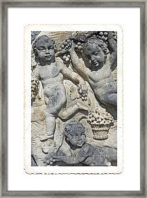 Angels With Grapes Framed Print by Joana Kruse
