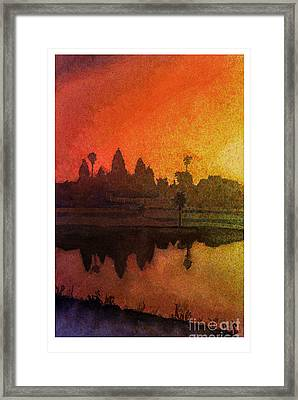 Angkor Sunrise Framed Print by Ryan Fox