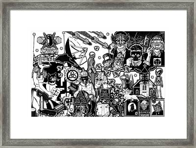 Animal Party Vision Framed Print by Travis Burns