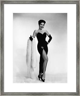 Ann Miller, Ca. 1950s Framed Print by Everett