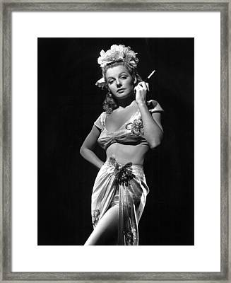 Ann Sheridan, Ca. 1940s, Photo Framed Print by Everett