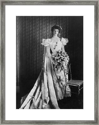 Anna Eleanor Roosevelt Framed Print by Granger