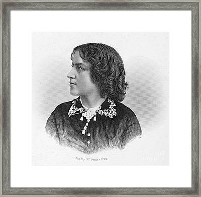 Anna Elizabeth Dickinson Framed Print by Granger