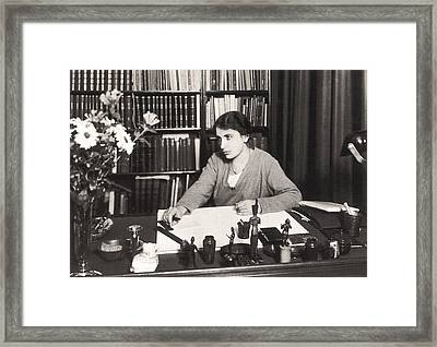 Anna Freud 1895-1982, Youngest Daughter Framed Print by Everett