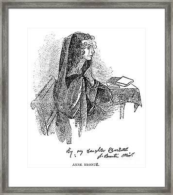 Anne BrontË (1820-1849) Framed Print by Granger