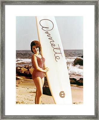 Annette Funicello, Circa 1964 Framed Print by Everett