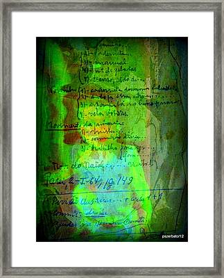 Annotations For A Life Framed Print by Paulo Zerbato