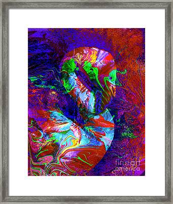 Another Colorful Flamingo Framed Print by Doris Wood