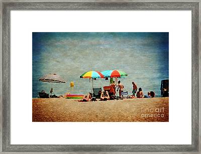Another Day At The Beach Framed Print by Mary Machare