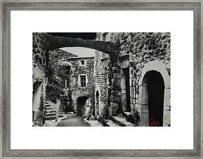 Another Residence In Childhood Alba France Ardeche Framed Print by Colette V Hera  Guggenheim