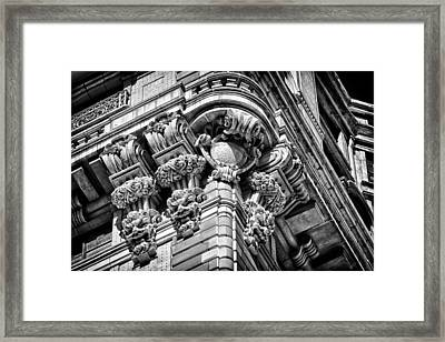 Ansonia Building Detail 46 Framed Print by Val Black Russian Tourchin