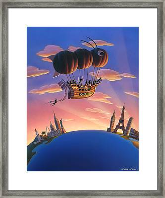 Ant Airship  Framed Print by Robin Moline