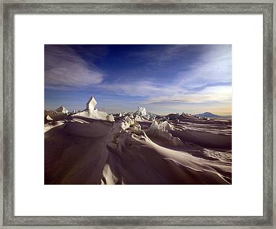 Antarctic Landscape 152 Framed Print by David Barringhaus