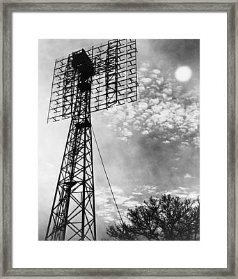 Antenna Tower From Which The First Framed Print by Everett