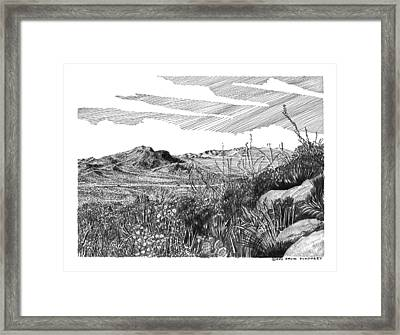 Anthony Gap New Mexico Texas Framed Print by Jack Pumphrey