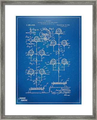 Anti-aircraft Air Mines Patent Artwork 1916 Framed Print by Nikki Marie Smith