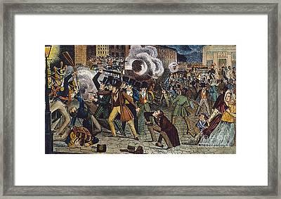 Anti-catholic Mob, 1844 Framed Print by Granger