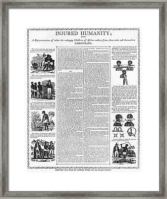 Anti-slavery Broadside Framed Print by Granger