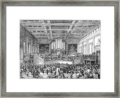 Anti-slavery Meeting, 1842 Framed Print by Granger