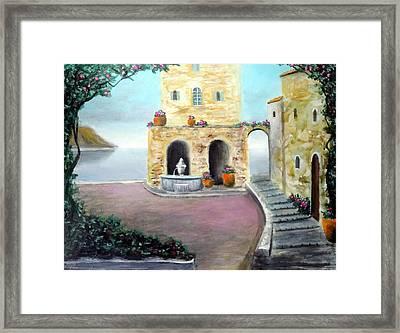 Antica Villa Sul Mare Framed Print by Larry Cirigliano