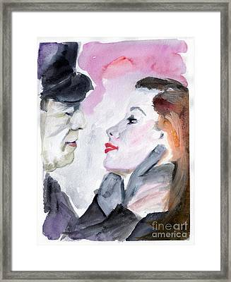 Anticipation Of A Kiss  Framed Print by Ginette Callaway