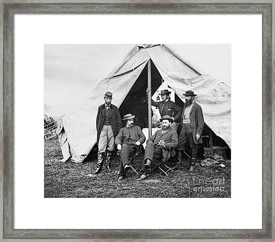 Antietam: Officials, 1862 Framed Print by Granger