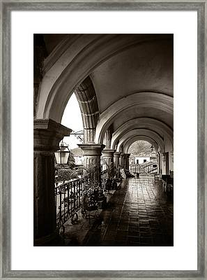 Antigua Arches Framed Print by Tom Bell