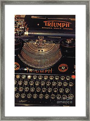 Antiquated Typewriter Framed Print by Jutta Maria Pusl