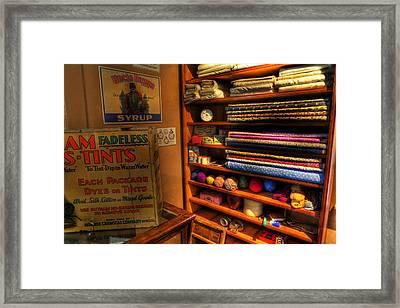 Antique General Store Linen - General Store - Vintage - Nostalgia Framed Print by Lee Dos Santos