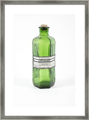 Antique Laudanum Bottle Framed Print by Gregory Davies, Medinet Photographics