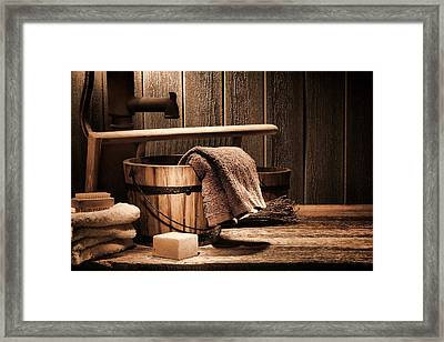 Antique Laundry Framed Print by Olivier Le Queinec