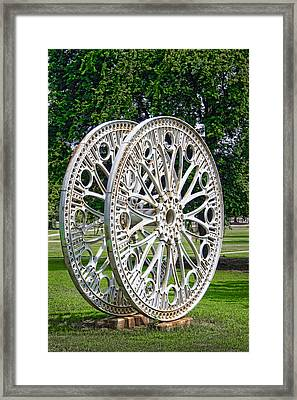 Antique Paddle Wheel University Of Alabama Birmingham Framed Print by Kathy Clark