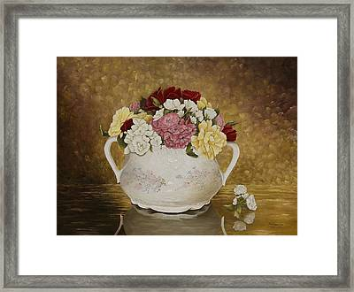 Antique Roses Framed Print by Mary Ann King