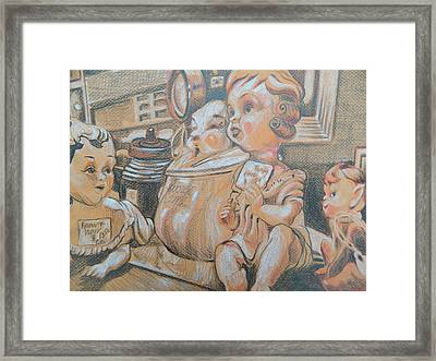 Antique Store Finds Iv Framed Print by Aleksandra Buha