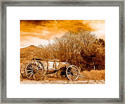 Antique Wagon Framed Print by Bob and Nadine Johnston