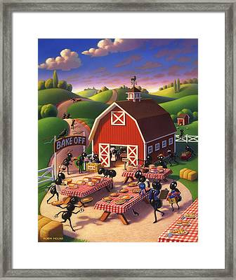 Ants At The Bake Off Framed Print by Robin Moline