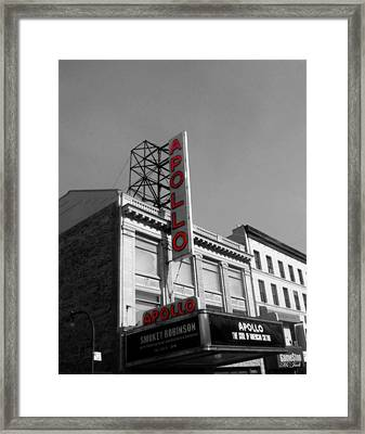 Apollo Theater In Harlem New York No.2 Framed Print by Ms Judi