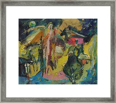 Appearance In The Night Framed Print by Ivan Filichev