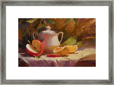 Apple And Orange Framed Print by Richard Robinson