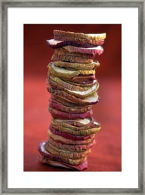 Apple Chips Framed Print by Joana Kruse