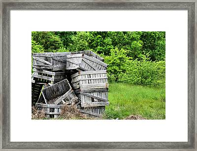 Apple Crates Framed Print by JC Findley