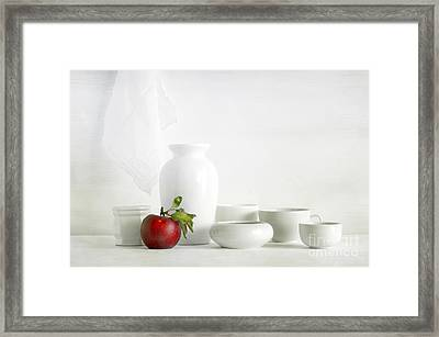 Apple Framed Print by Matild Balogh