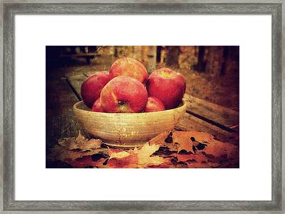 Apples Framed Print by Kathy Jennings