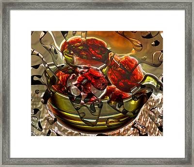 Apples That Adam Was An Inadequate Response. Framed Print by Tautvydas Davainis