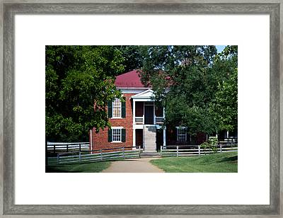 Appomattox County Court House 1 Framed Print by Teresa Mucha